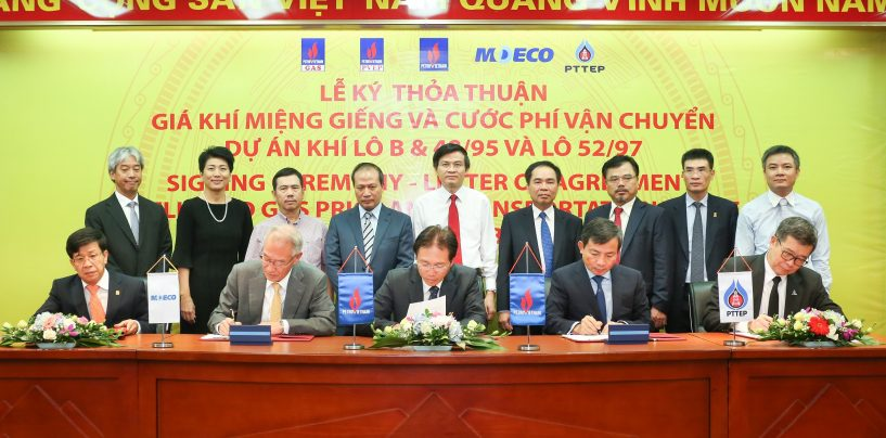 PTTEP signs with in the Vietnam Block B & 48/95 and Block 52/97 Project